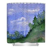 Pine Tree Hill  Shower Curtain
