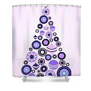 Pine Tree Ornaments - Purple Shower Curtain