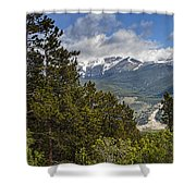 Pine Trees In The Rocky Mountain National Park Shower Curtain
