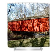 Pine Valley Covered Bridge In Bucks County Pa Shower Curtain