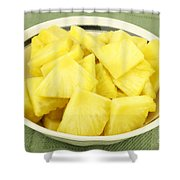 Pineapple Chunks Shower Curtain