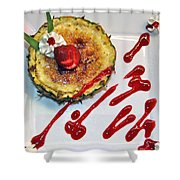 Pineapple Creme Brulee Maui Style Shower Curtain