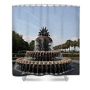 Pineapple Fountain Charleston Shower Curtain