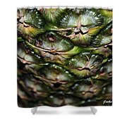 Pineapple Ripples Shower Curtain