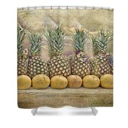 Pineapples And Grapefruit Shower Curtain