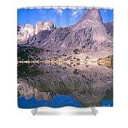 Pingora Peak On Lonesome Lake Shower Curtain