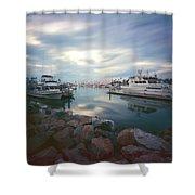 Pinhole Oceanside Harbor Shower Curtain
