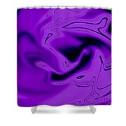 Pink Abstract Art Shower Curtain