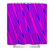 Pink And Blue Abstract Shower Curtain