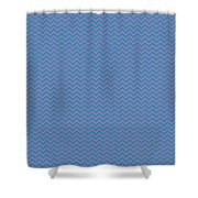 Pink And Blue Chevron Shower Curtain