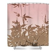 Pink And Brown Haiku Shower Curtain