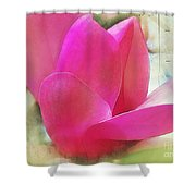 Pink And Green Shower Curtain