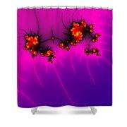 Pink And Purple Digital Fractal Artwork Shower Curtain