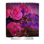 Pink And Purple Floral Bouquet Shower Curtain