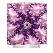 Pink And Purple Soft And Creamy Fractal Art Shower Curtain