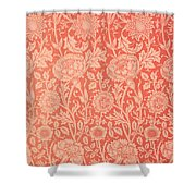Pink And Rose Wallpaper Design Shower Curtain by William Morris