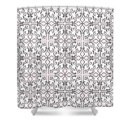Pink And White Interlude Shower Curtain