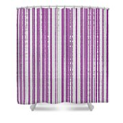 Pink And White Paper Shower Curtain