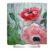 Pink Anemones Shower Curtain