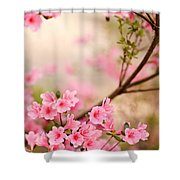 Pink Azalea Bush Shower Curtain