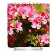 Pink Azealas Shower Curtain