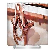 Pink Ballerinas Shower Curtain