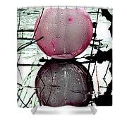 Pink Balloon Reflecting Shower Curtain
