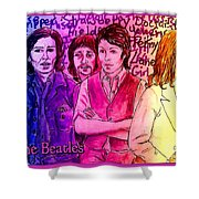 Pink Beatles From Rainbow Series Shower Curtain