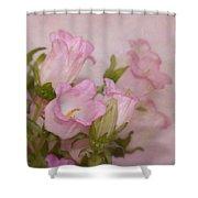 Pink Bell Flowers Shower Curtain