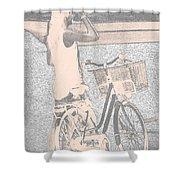 Pink Bike Shower Curtain