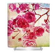 Pink Blossom - Watercolor Edition Shower Curtain