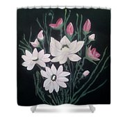 Pink Bouquet Shower Curtain