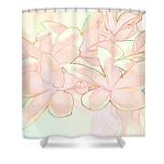 Pink Bunch Shower Curtain