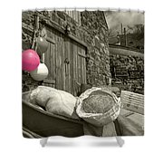Pink Buoy  Shower Curtain