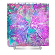 Pink Butterfly By Jan Marvin Shower Curtain