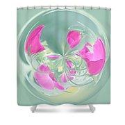 Pink California Poppy Orb Shower Curtain