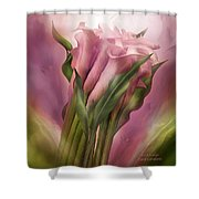Pink Callas Shower Curtain
