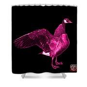 Pink Canada Goose Pop Art - 7585 - Bb  Shower Curtain