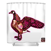 Pink Canada Goose Pop Art - 7585 - Wb Shower Curtain