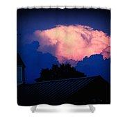 Pink Cloud Over Lexington Shower Curtain