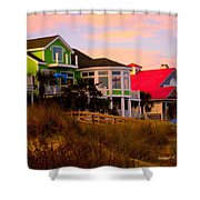 Pink Clouds At Isle Of Palms Shower Curtain
