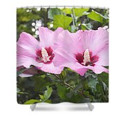 Pink Couple Shower Curtain