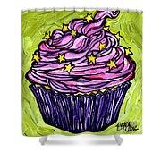 Pink Cupcake Shower Curtain