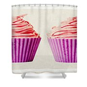Pink Cupcakes Shower Curtain