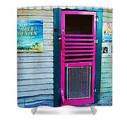 Pink Door Shower Curtain