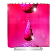 Pink Drops Shower Curtain