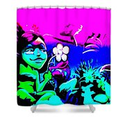Pink Easter Island Shower Curtain