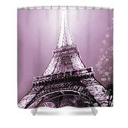 Pink Eiffel Tower Paris Shower Curtain
