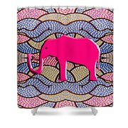 Pink Elephant Shower Curtain by Patrick J Murphy