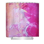 Pink Moving Shower Curtain
